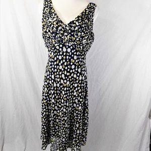 Adrianna Papell Polka Dot Sleeveless Dress Size 14